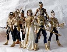 Wayang Pandawa Lima figures